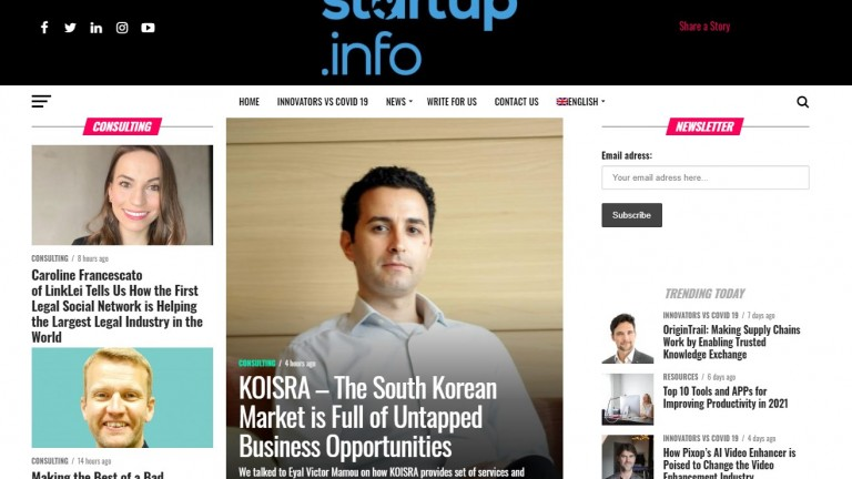 Startup Info Eyal Victor Mamou Interview