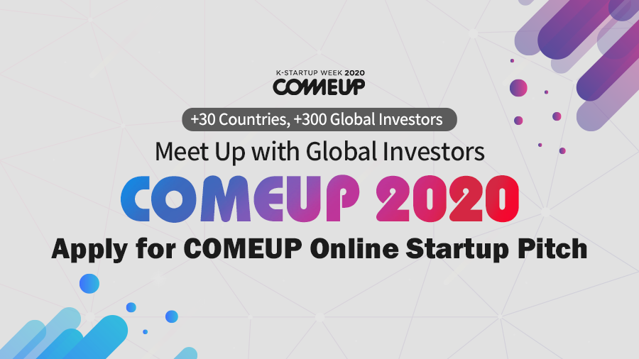 COMEUP 2020 Startup Conference Seoul